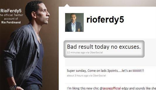 Bad result ริโอเผยความรู้สึกผ่านทวิตเตอร์