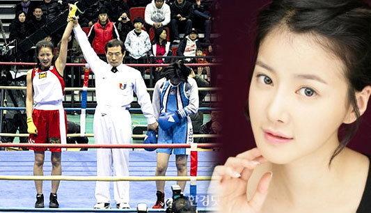 """สุดฮือฮา! ดาราสาว """"อี ชี-ยอง""""แชมป์มวยกิมจิ"""