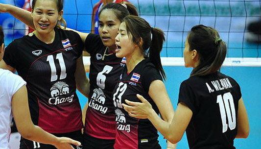 วอลเลย์บอลหญิงไทย เชือด ไต้หวัน3-0 ทะลุรอบรอง