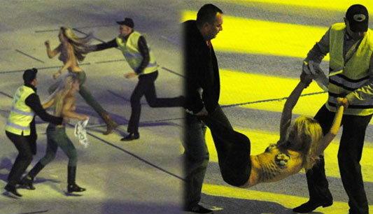 4สาวใจเด็ดป่วนพิธีเปิดสนามยูโร2012