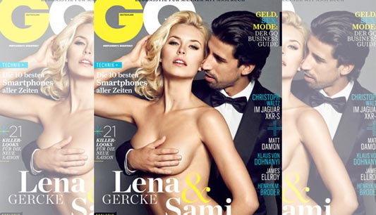 เคดิร่าสยิว!จับเต้าแฟนขึ้นปกนิตยสาร