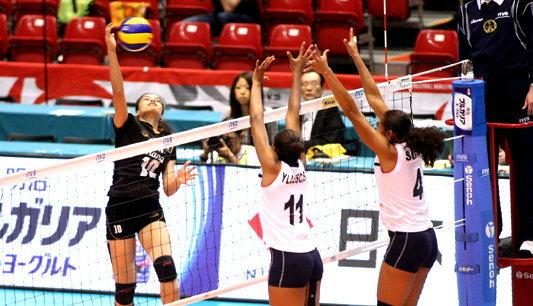 สาวไทยตบเปรูยับ3-0วอลเลย์ฯคัดโอลิมปิก