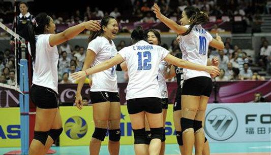 สาวไทยตบคิวบากระจุย 3-0 เซต