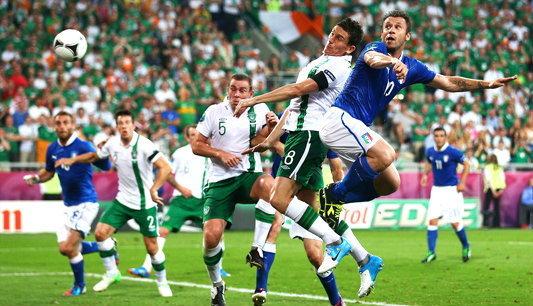 เกรียนโอ้ ควง คาซซาโน่ ซัดพาอิตาลี อัด ไอร์แลนด์ 2-0
