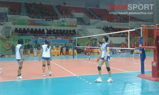 สาวไทยเชือดเจ้าภาพ 3-0 ตีตั๋วรอบชิงเหรียญทอง