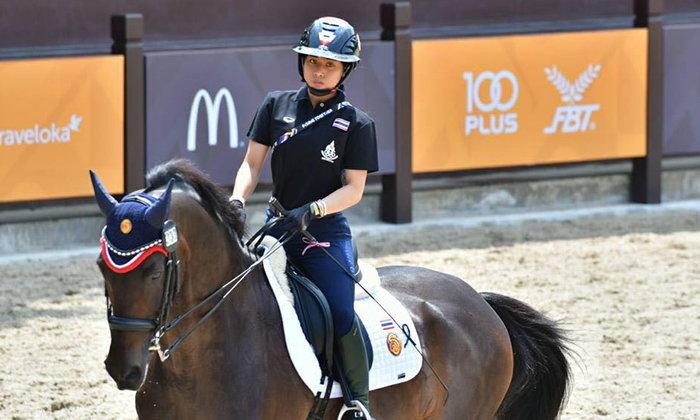 พระองค์หญิงฯทรงนำทีมไทยคว้าเหรียญเงินซีเกมส์ศิลปะบังคับม้า
