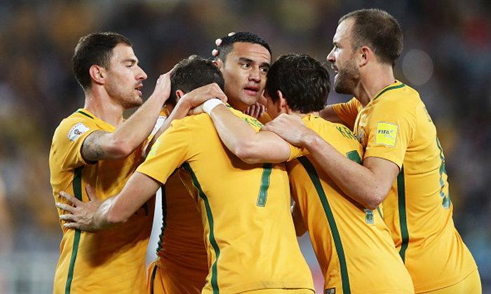 """""""เคฮิลล์"""" โขกเบิ้ล! """"ออสเตรเลีย"""" ต่อเวลาเฉือน """"ซีเรีย"""" 10 คน 2-1 ลิ่วเพลย์ออฟชิงตั๋วบอลโลก"""