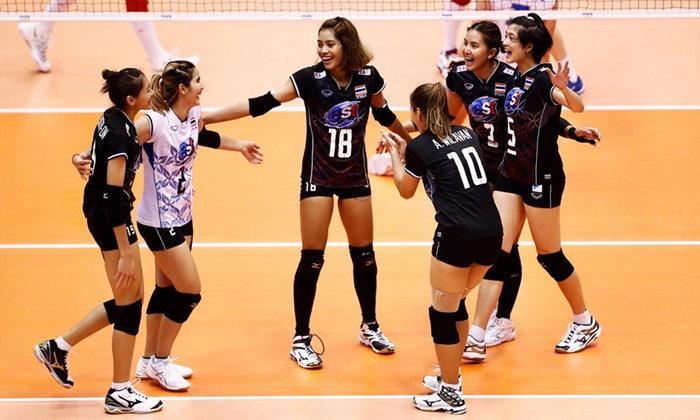 """สบายมือ! """"สาวไทย"""" ถลุง """"มัลดีฟส์"""" 3-0 เปิดหัวลูกยางชิงแชมป์เอเชีย"""