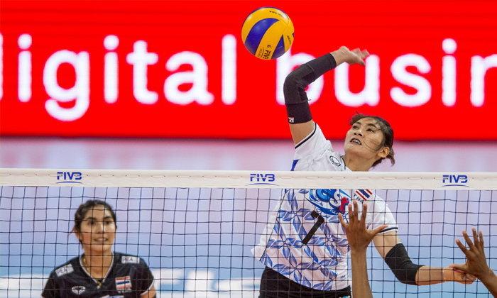 """น่าเสียดาย! วอลเลย์บอลหญิง """"ญี่ปุ่น"""" ตบแซง """"สาวไทย"""" 3-2 ซิวแชมป์เอเชียสมัย 4"""