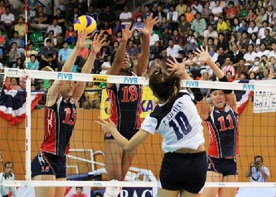 วอลเลย์สาวไทยช็อคโลกชนะเหรียญเงินอลป. 3-2