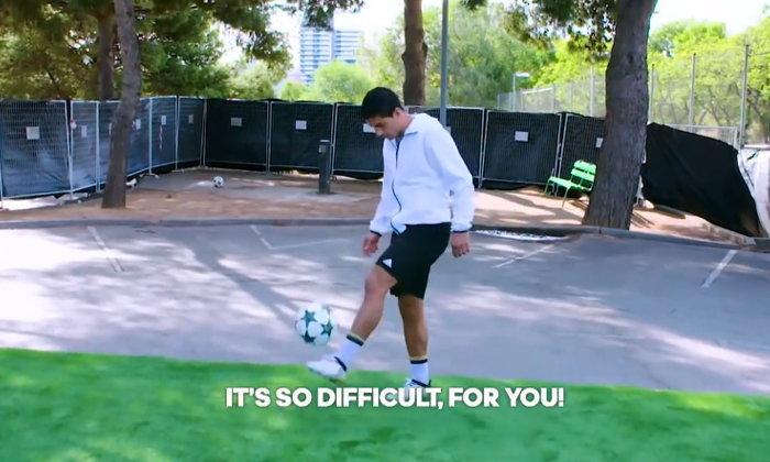 """สถิติโลก! """"เหยิน"""" สร้างสถิติแข้งคนแรกจับบอลสูงกว่า 35 เมตร"""