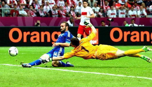 โปแลนด์ ประเดิมสนามยูโร2012 โดนกรีซตีเจ๊า1-1