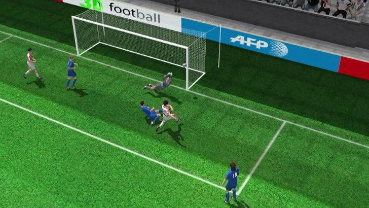 คลิปไฮไลท์ยูโร2012 3D โครเอเชีย ตีเสมอ อิตาลี 1-1