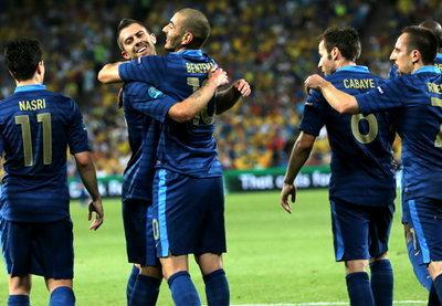 ประมวลภาพ ฝรั่งเศส ชนะ ยูเครน 2-0
