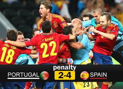 ประมวลภาพ สเปน ชนะจุดโทษ โปรตุเกส 4-2