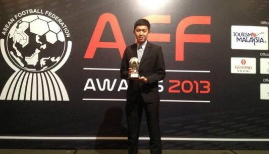 สุดเจ๋ง!! อาร์มคว้ารางวัลนักฟุตซอลยอดเยี่ยมเอเอฟเอฟ 2013