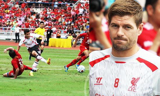 ภาพจุใจ! ลิเวอร์พูล 3-0 ทีมชาติไทยชุดซีเกมส์