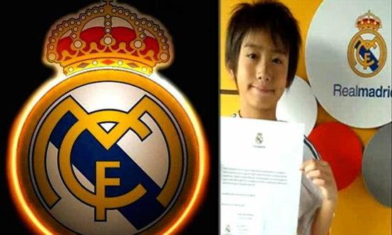 เรอัล มาดริด เซ็นสัญญา ทาคูฮิโระ นากาอิ เด็กญี่ปุ่นวัย 9 ขวบเข้ารัง+คลิป