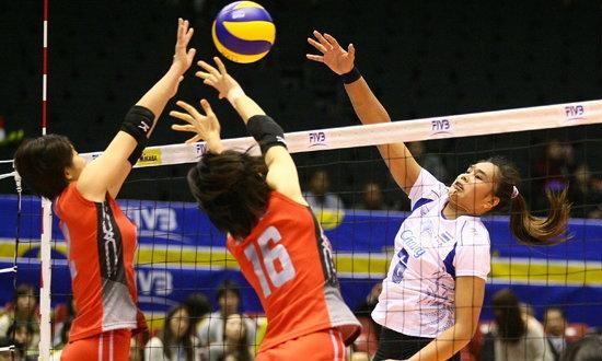 ทำดีแล้ว! นักตบสาวไทยพ่ายยุ่น 0-3 เซต