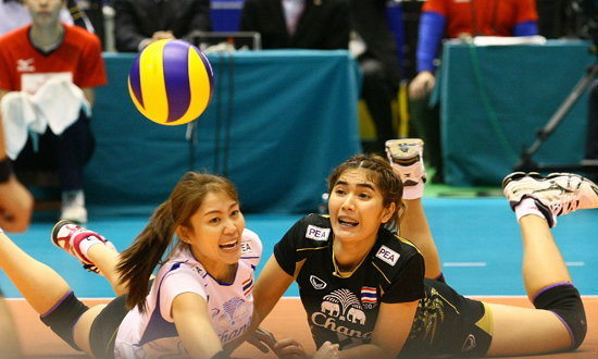 วอลเลย์บอลหญิงไทยไม่เคยหยุดยิ้มและต่อสู้