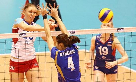 ตบสะเด่าทรวง! สาวไทยคว่ำรัสเซีย 3-1เซต