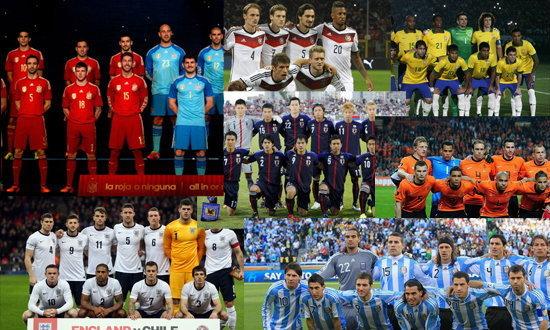 32 ทีมสุดท้ายเล่นฟุตบอลโลก 2014 ที่บราซิล