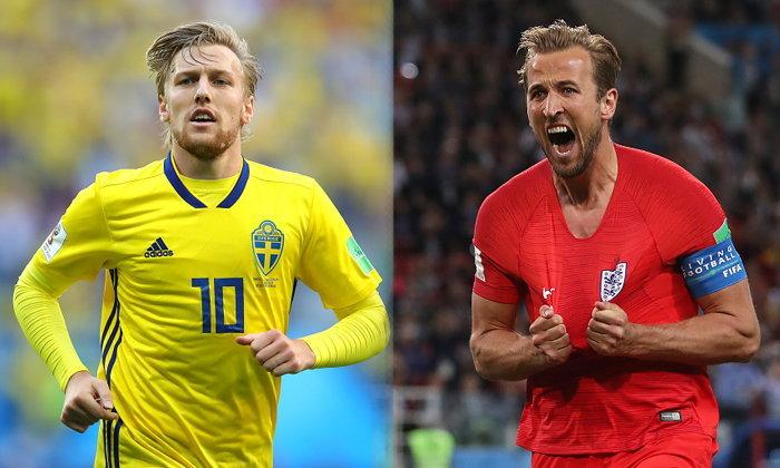 """พรีวิว ฟุตบอลโลก 2018 รอบก่อนรองชนะเลิศ : """"สวีเดน VS อังกฤษ"""""""