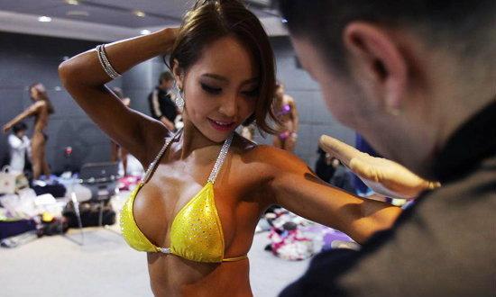 โอ้ว! เบื้องหลังการแข่งเพาะกายหญิงที่เกาหลีใต้