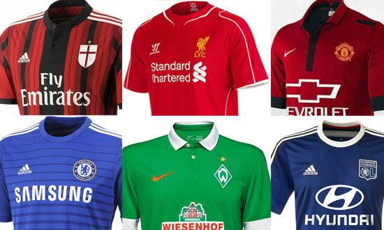 ส่องเสื้อแข่งใหม่ทีมดังรับฤดูกาล 2014-2015