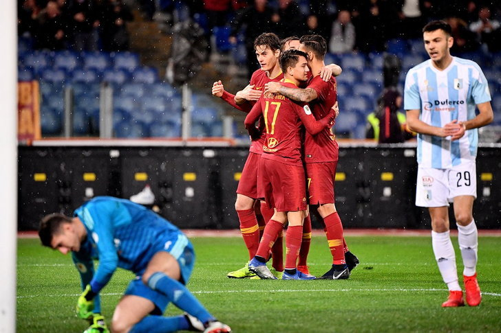 โรม่า ถล่ม เอ็นเตลล่า 4-0 ลิ่ว โคปปา อิตาเลีย