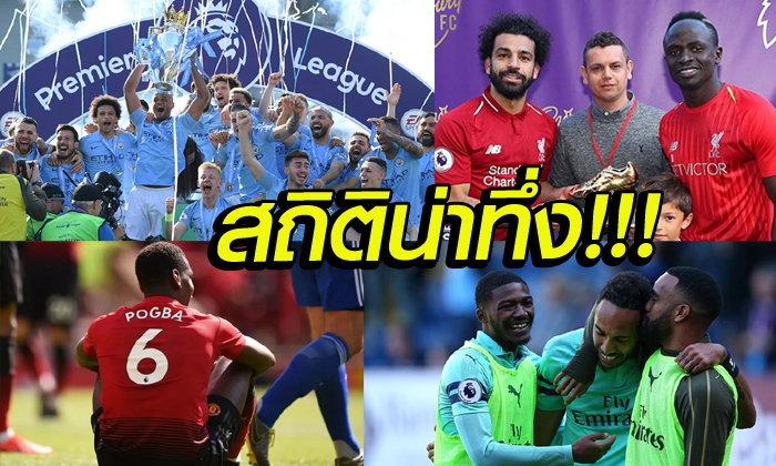 13 สถิติที่ตราตรึง ในศึกฟุตบอลพรีเมียร์ลีก 2018/19