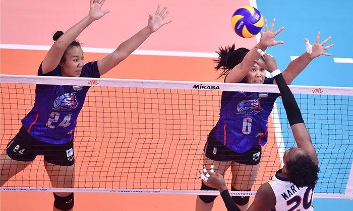 สาวไทย พ่าย โดมินิกัน หวุดหวิด 2-3 เซต ศึกวอลเลย์บอลเนชั่นลีก