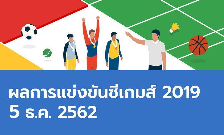 ผลการแข่งขันกีฬาซีเกมส์ 2019 ประจำวันที่ 5 ธันวาคม 2562