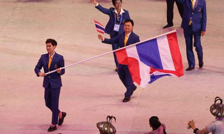ประมวลภาพ ทัพนักกีฬาไทยพาเหรดเข้าสนามในพิธี เปิดการแข่งขันกีฬาซีเกมส์ ครั้งที่ 30