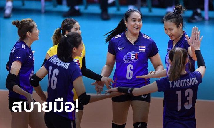 ซิวแชมป์กลุ่ม! ตบสาวไทย อัด ออสเตรเลีย 3-0 เซต ลิ่วตัดเชือกคัดโอลิมปิก 2020