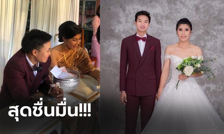 """""""ศศิวิมล & อรทัย"""" สองนักตะกร้อสาวทีมชาติไทยจูงมือเข้าพิธีวิวาห์ (ภาพ)"""