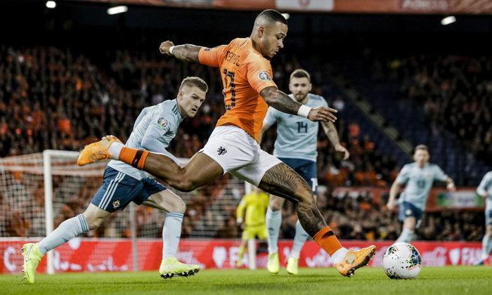 เนเธอร์แลนด์  แซง ไอร์แลนด์เหนือ 3-1 นำฝูงกลุ่มคัดยูโร