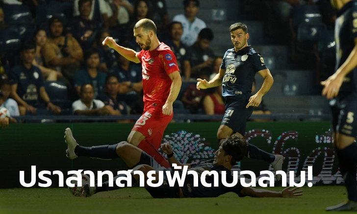 """""""สุภโชค"""" ซัดเบิ้ล! บุรีรัมย์ คืนฟอร์มเก่งถล่ม ชลบุรี 10 คน 4-0"""