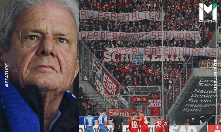 """ระเบิดเวลาของบอลเยอรมัน : ทำไมแฟนบาเยิร์นเรียกประธานฮอฟเฟนไฮม์ว่า """"ลูกโสเภณี""""?"""