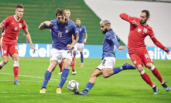 อิตาลี รัว โปแลนด์ 10 คน 2-0 แซงนำจ่าฝูงกลุ่ม 1 ศึกเนชันส์ ลีก