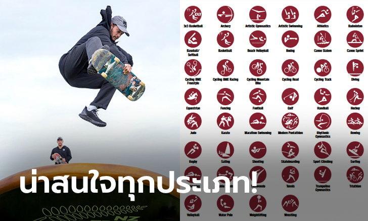 """อินเทรนด์สุด! ว่าด้วยเรื่อง """"6 กีฬาใหม่"""" ที่พร้อมชิงชัยในโอลิมปิก 2020"""
