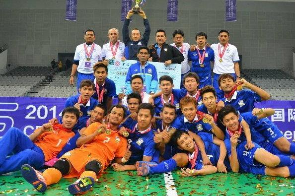 ฟุตซอลไทยไล่ถล่มเม็กซิโก 7-0 แซงพญามังกรคว้าแชมป์สี่เส้าที่จีน