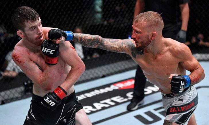 """กรรมการเสียงแตก! """"ดิลลาชอว์"""" เฮแต้ม """"แซนด์แมน"""" ไม่เอกฉันท์ ศึก UFC"""