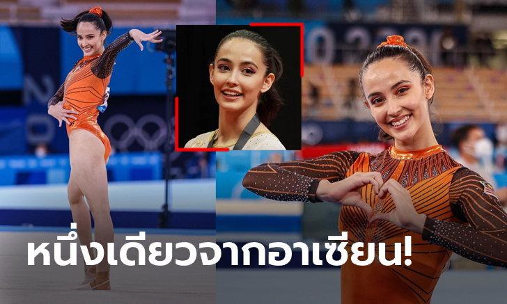 """สวยสะกดสายตา! """"ฟาราห์"""" ยิมนาสติกสาวมาเลย์เฉิดฉายในโอลิมปิก (ภาพ)"""
