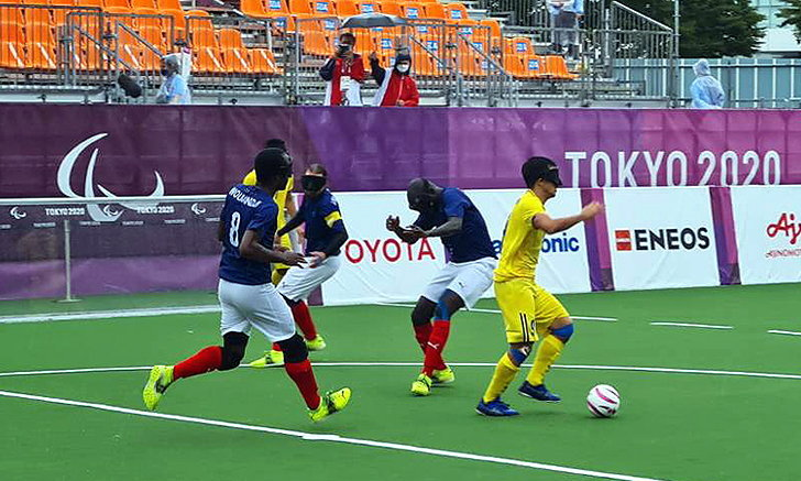 บอลคนตาบอดไทยเฉือนฝรั่งเศส 3-2 ปิดฉากอันดับ 7 พาราลิมปิก