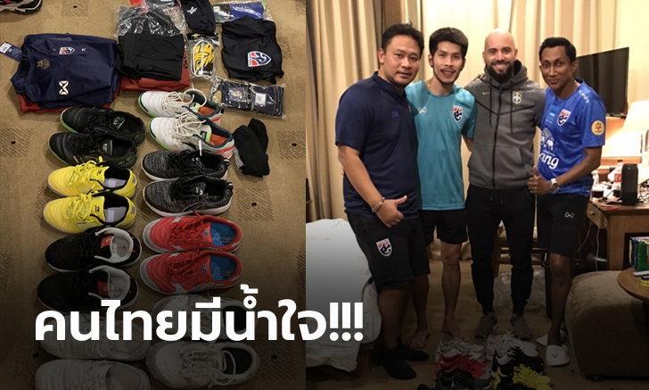 มิตรภาพนอกสนาม! นักฟุตซอลไทย มอบอุปกรณ์แข่งให้ นักเตะโซโลมอน (ภาพ)