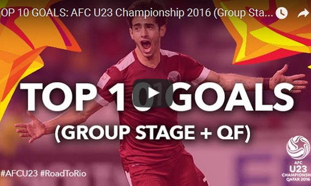 10 ประตูสุดสวย! ศึกฟุตบอล ยู- 23 ปีชิงแชมป์เอเชีย 2016 (คลิป)