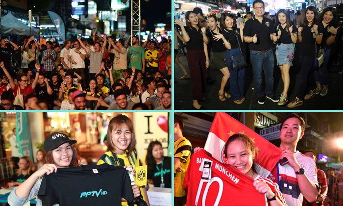 PPTV HD เปิดจอยักษ์ให้เชียร์ฟุตบอล 2 ลีกดัง พร้อมปาร์ตี้สุดมันส์จากดีเจชื่อดัง ณ ถนนข้าวสาร