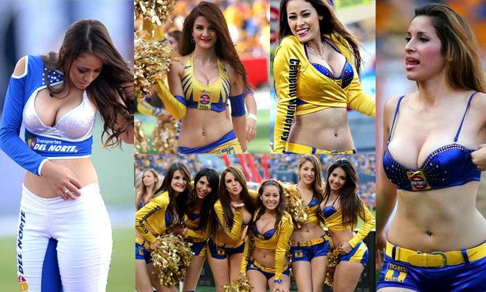 ภาพแบบสุดสะเด่า!! กองเชียร์สาวทรงโต จากขอบสนามฟุตบอลลีกเม็กซิโก