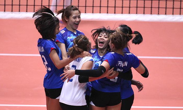 """ล้างแค้นสำเร็จ! """"ตบสาวไทย"""" พลิกแซง """"สาวดัตช์"""" สุดมันส์ 3-2 เซต"""